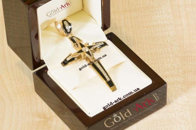 Золотой Крест с эмалью 85,15